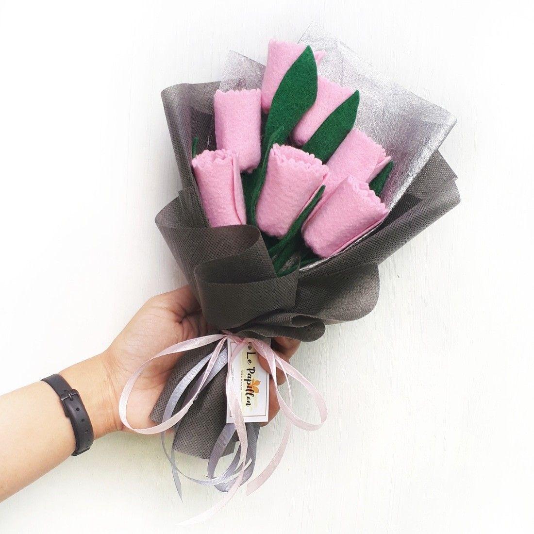 Pink Tulip Bouquet Bunga Buket