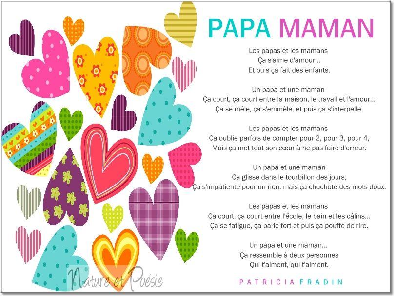 Papa Maman Une Poésie Touchante De Patricia Fradin Papa