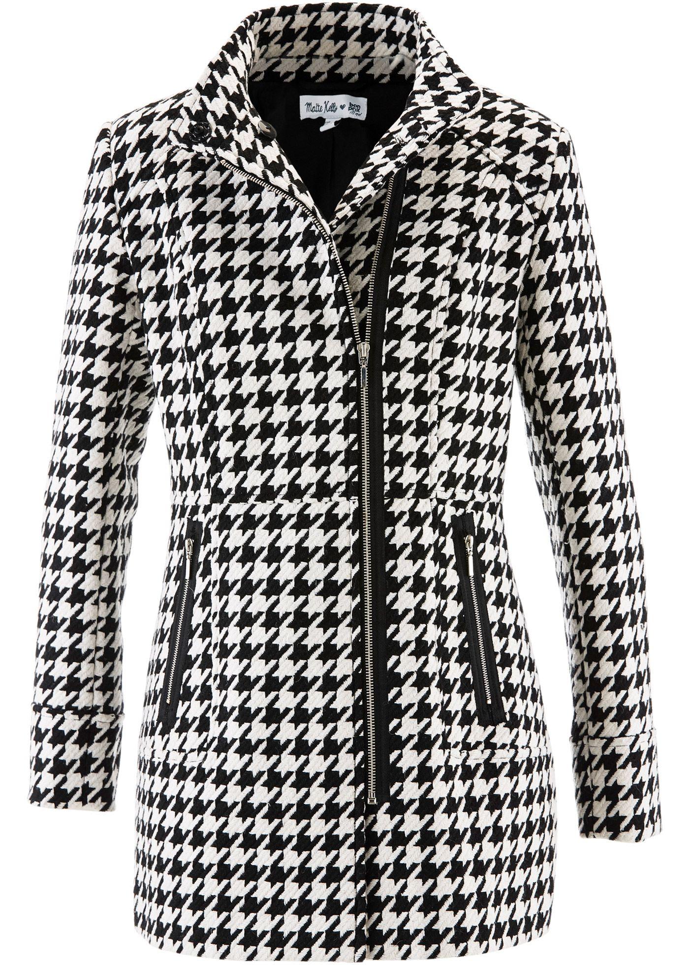 ce2feafbda28 Mantel designt von Maite Kelly schwarz wollweiß gemustert - bpc bonprix  collection jetzt im Online Shop von bonprix.de ab € 59,99 bestellen. Dieser  Mantel .
