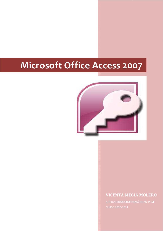 Microsoft Office Access 2007 Book