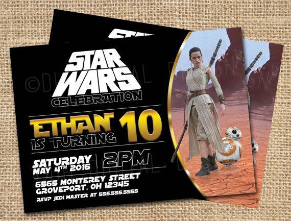 Wonderful Star Wars Invitation Star Wars Birthday By DHDigitalDesign On Etsy