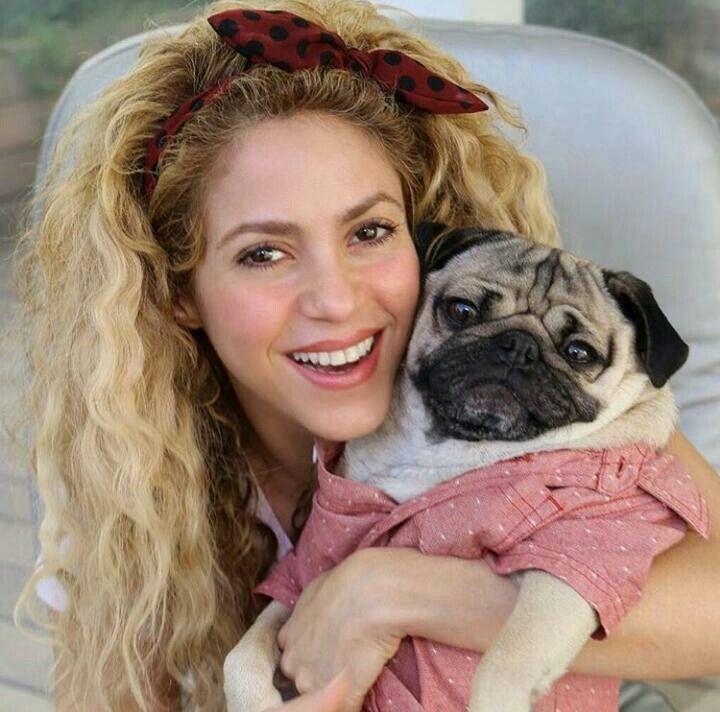 Shakira & her dog