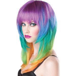 Rainbow Kaleidoscope Wig