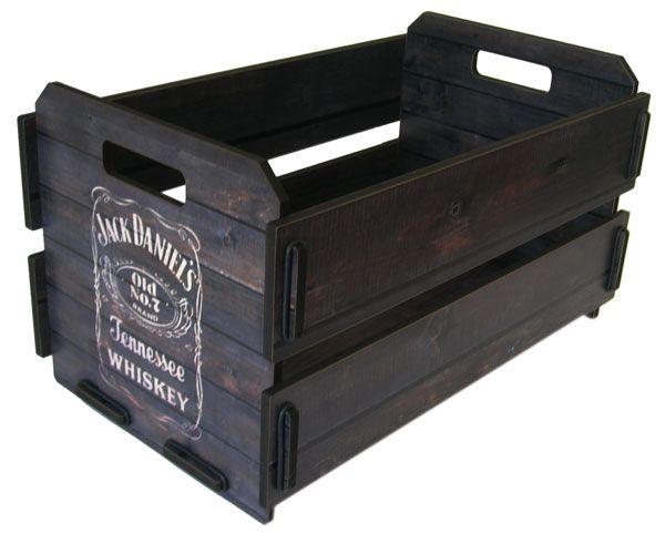 Caixote Pequeno Organizador de Bebidas Jack Daniels                                                                                                                                                                                 Mais