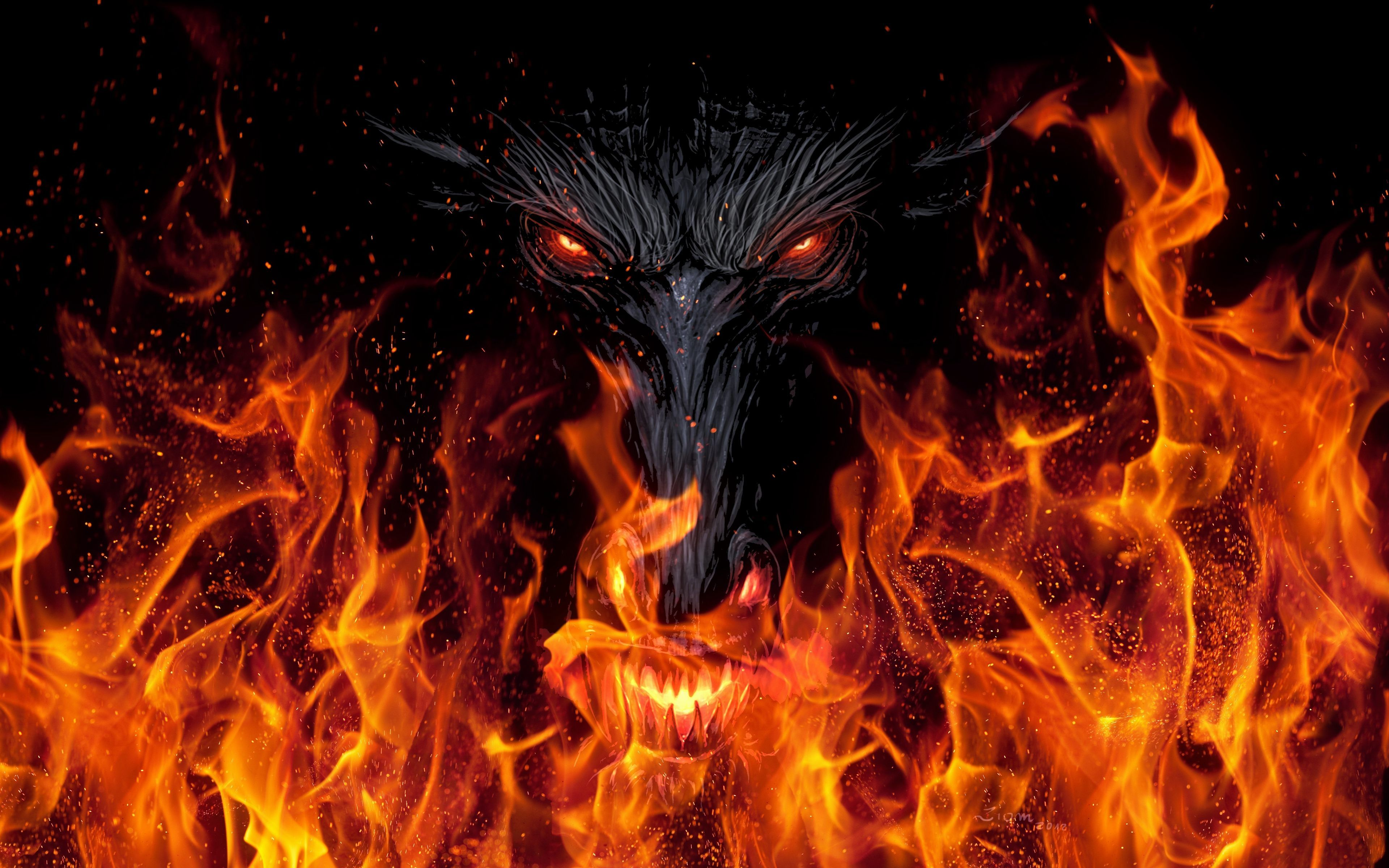 Fire Dragon Wallpapers Background Free Download Wallpapers Background 3840x 72 Kb