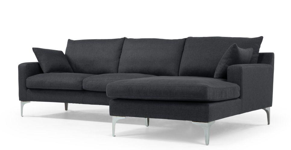 mendini right hand facing corner sofa group in anthracite grey ... - Angolo Chaise Whistler Grigio