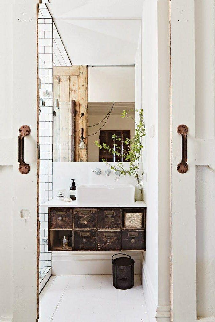 Le meuble sous lavabo - 60 idées créatives - Archzinefr Pinterest - lavabo retro salle de bain
