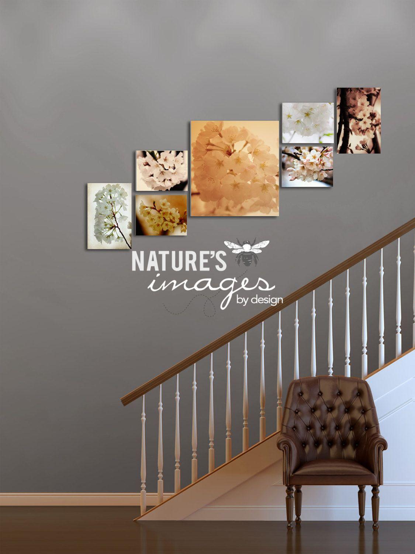 Cherry Blossom Series - Cherry Blossom Prints - home decor - dreamy prints - 2 - 12X18, 1 - 24X28, 4 - 11x14. $425.00, via Etsy.