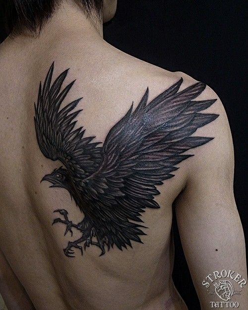 25 Crow Tattoo Designs Ideas: Beautiful Yatagarasu (ヤタガラスthree-legged Crow) Tattoo
