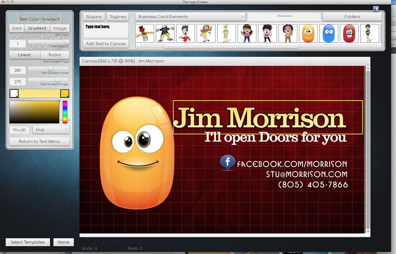 Modify business card templates laughingbird software pinterest modify high quality business card and logo templates with laughingbird softwares business card creator for mac and windows colourmoves