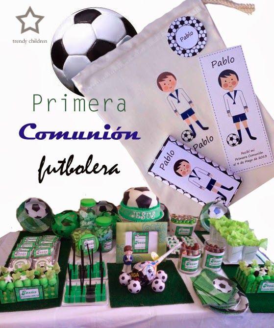 Letras Decoradas · primera comunión fútbol Mesas Dulces Comunion 2e36ffc2163f0