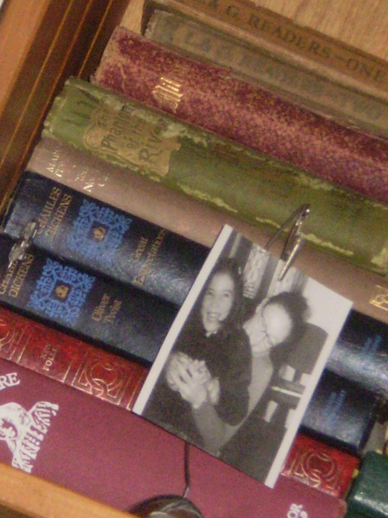 old books...and my girls