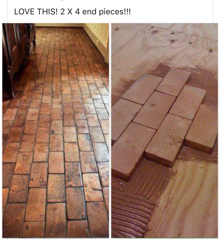 Cool Wood Floor Different Approach Resembles Brick DIY Projects - 2 x 4 floor tiles