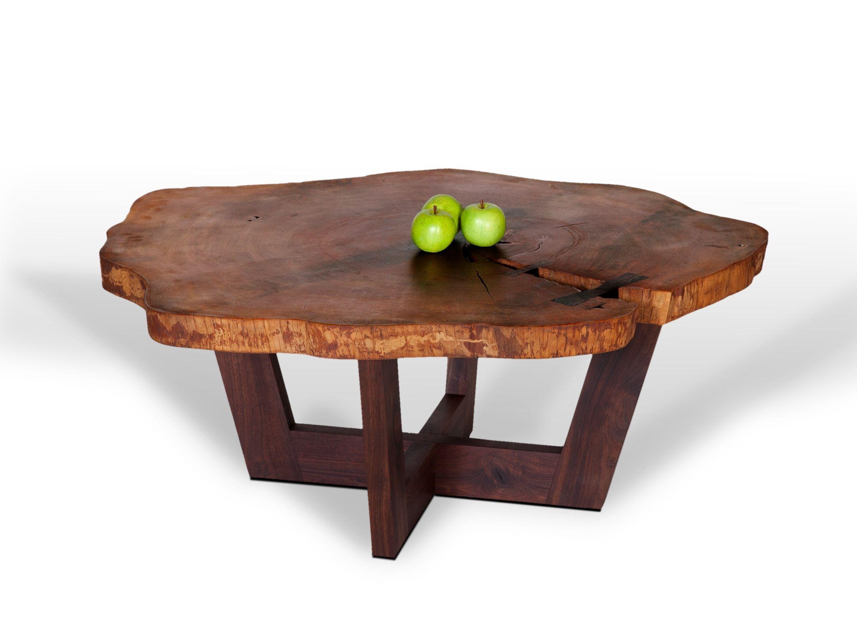 Custom Made Slab Coffee Tables Coffee Table Wood Natural Wood Table Round Wood Coffee Table