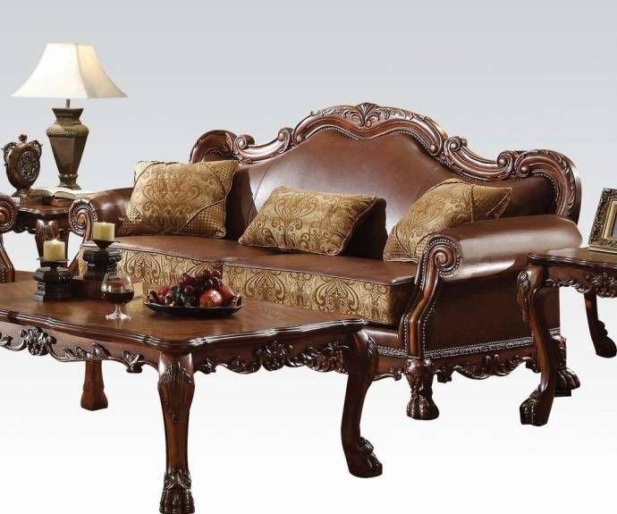 Surprising Acme Furniture 15160 Dresden Cherry Oak Brown Chenille Machost Co Dining Chair Design Ideas Machostcouk