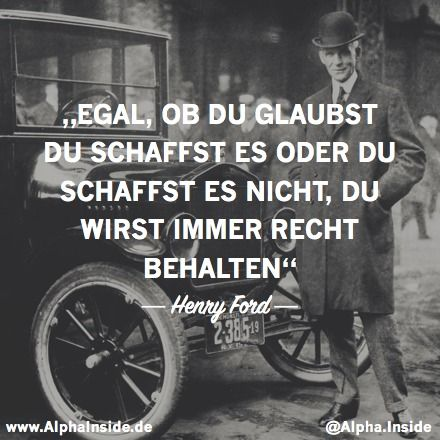 Wieso du leer sterben solltest | Love | Ford quotes, Henry ...