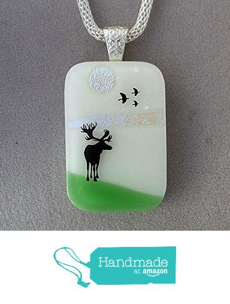 Moose Fused Dichroic Glass Pendant Necklace Silver Bail A2937 from Lolas Glass Pendants http://www.amazon.com/dp/B015JFKQAY/ref=hnd_sw_r_pi_dp_1COmwb1VCQZ03 #handmadeatamazon