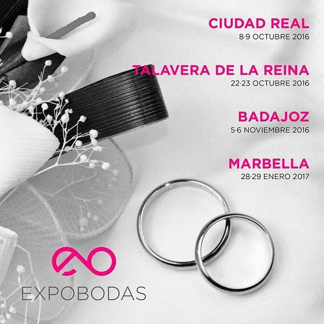 ¿Te casas? Entonces no puedes perder las próximas ferias Expobodas organizados por el portal @bodaeventos.es . ¡Regístrate en su web y aprovéchate de toda la información que encontrarás para organizar tu boda!