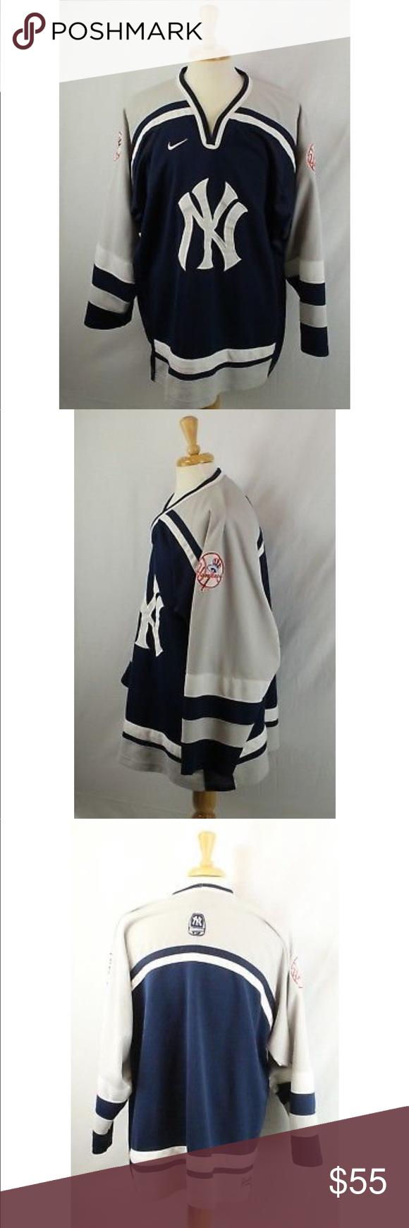 buy online 1118b 57163 Vintage Nike New York Yankees Hockey Jersey XXL Vintage Nike ...