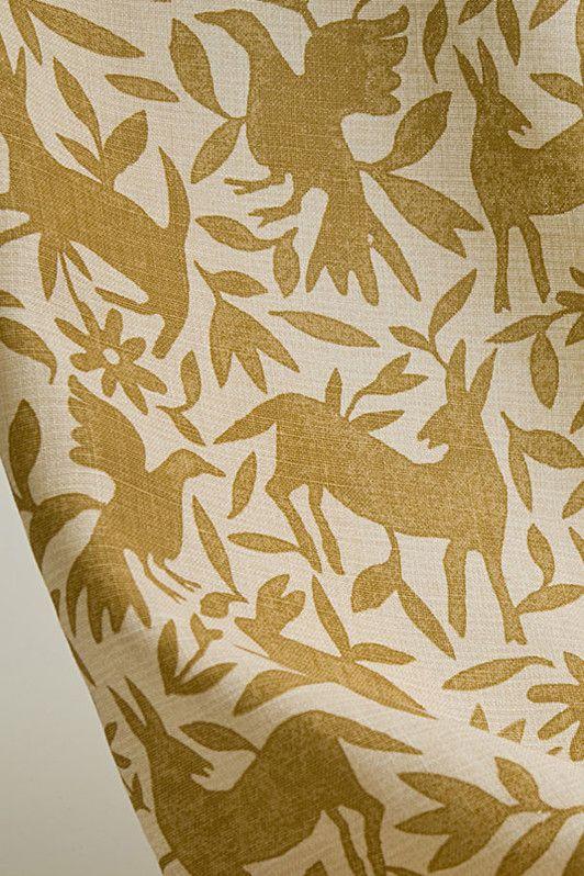 flora & fauna / 1012-03 / deep ochre