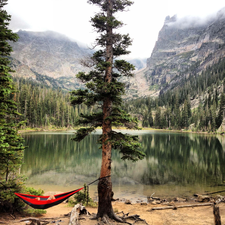 Odessa Lake, Rocky Mountain National Park, CO #camping #hammock #goodlife