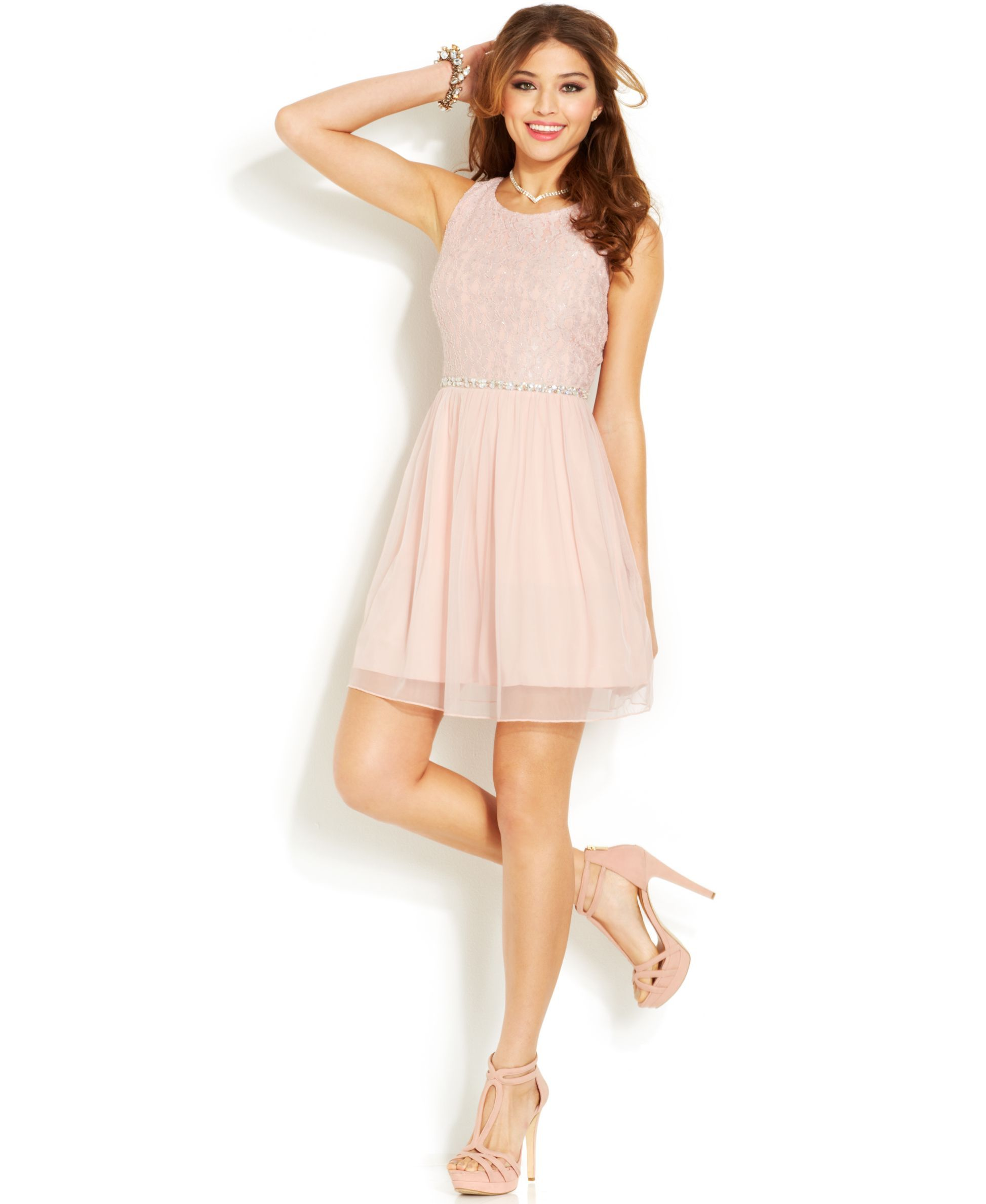 Speechless Juniors' A Line Dress - Juniors Homecoming Dresses ...