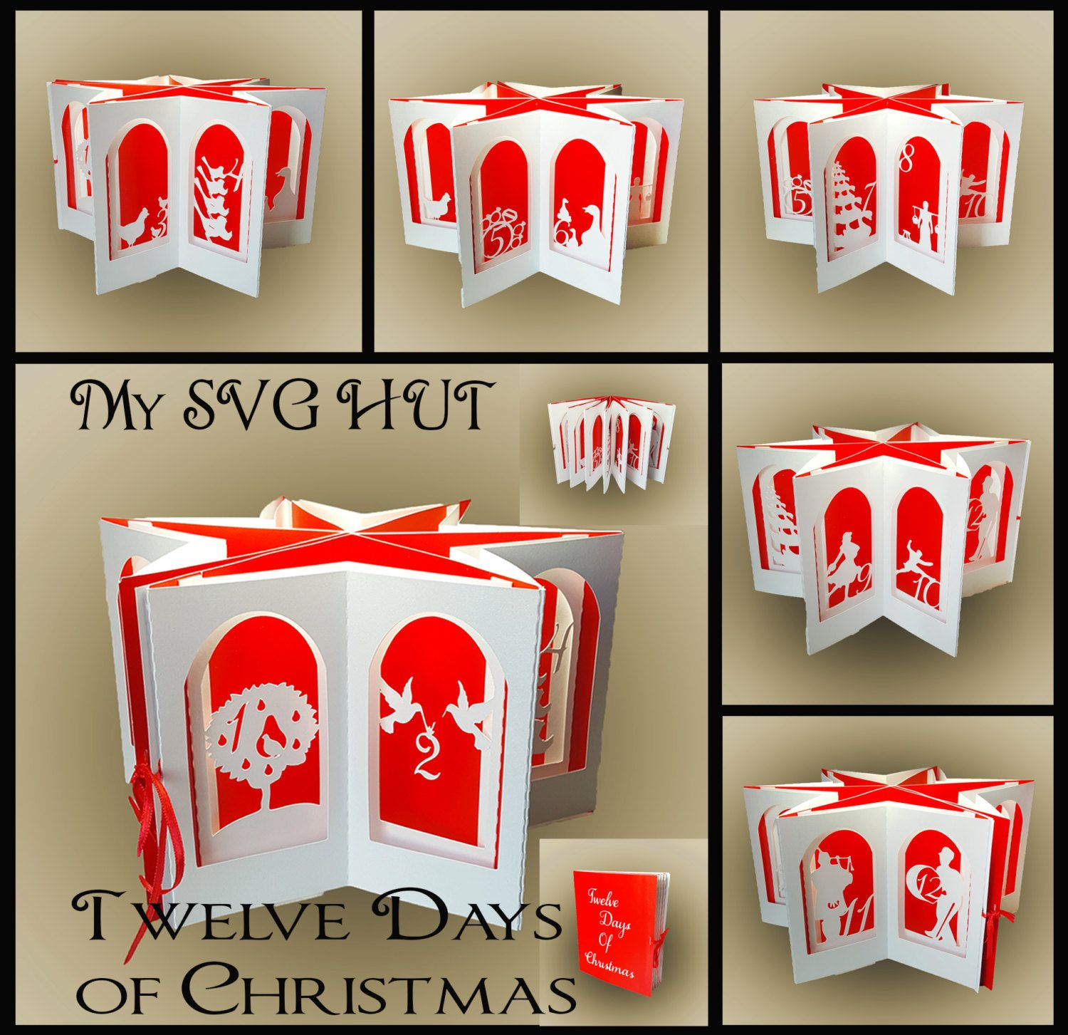 The Twelve Days Of Christmas Pop Up Carousel Card Template Etsy Christmas Pops Twelve Days Of Christmas The Nativity Story