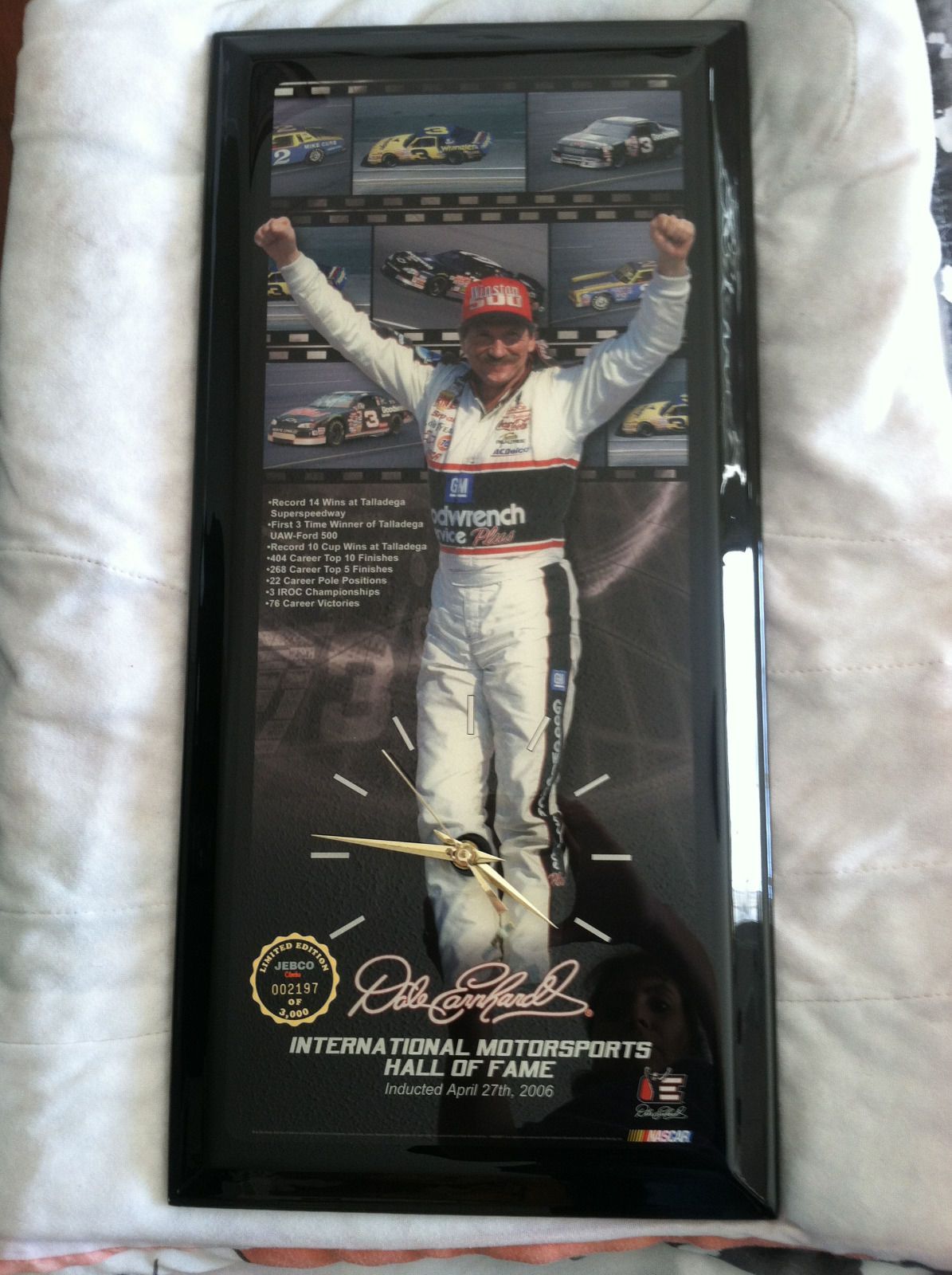 e302a8f37e3 Dale Earnhardt Sr. JEBCO Clock Limited Edition