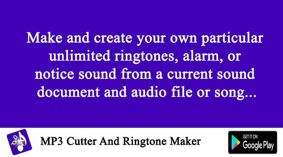 Make and create your own particular unlimited ringtones