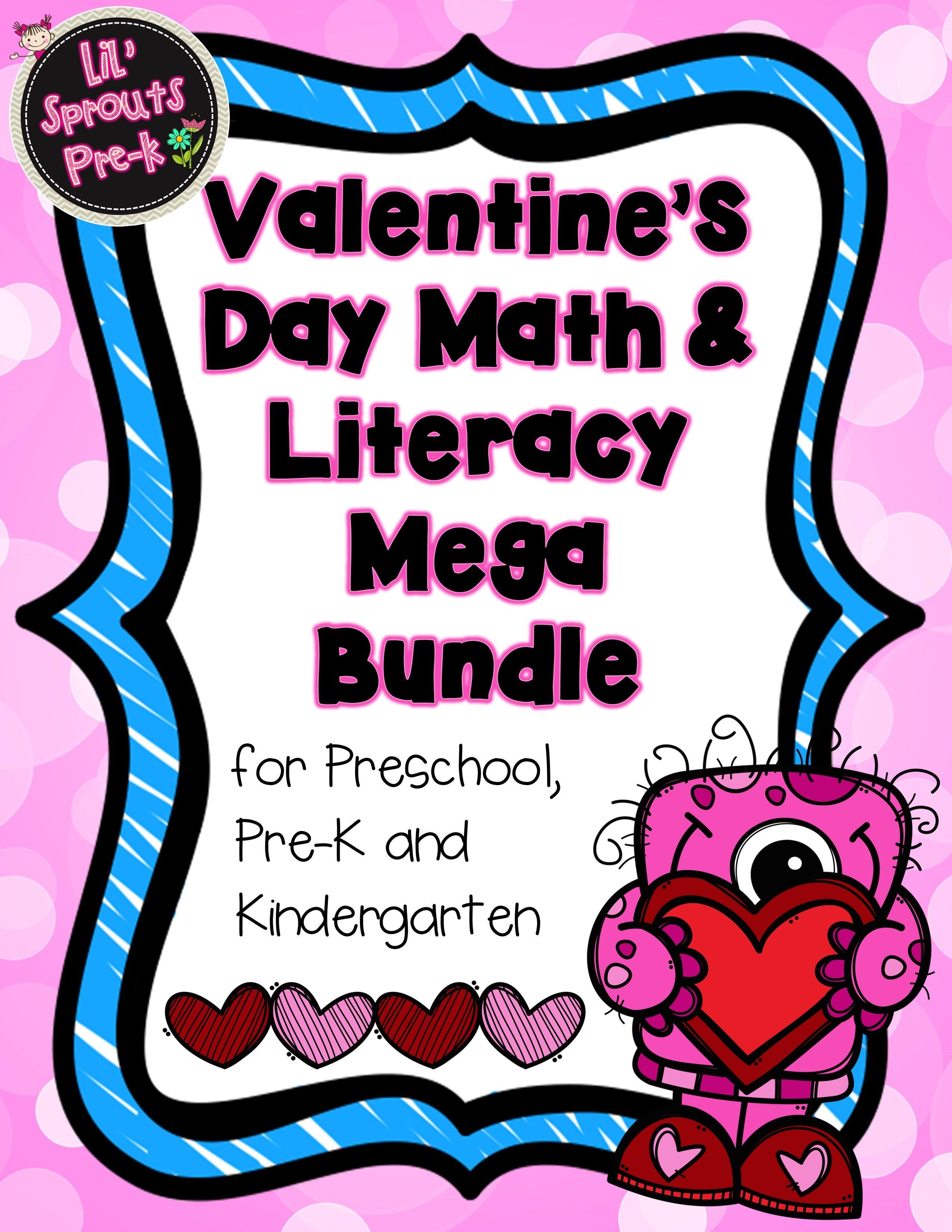 Valentine S Day Bundle Literacy Amp Math Games Prek Pre K