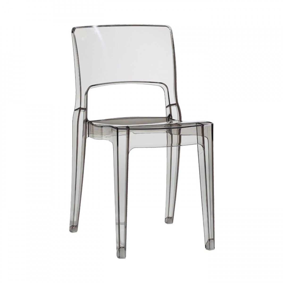 Euro Style Isy Clear Polycarbonate Anti Shock Dining Chair Clear  # Muebles Linea Huno
