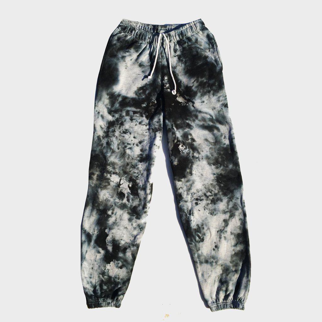 Grey Black Tie Dye Jogging Pants Joggers Tie Dye Outfits Tie Dye Pants Tie Dye Fashion