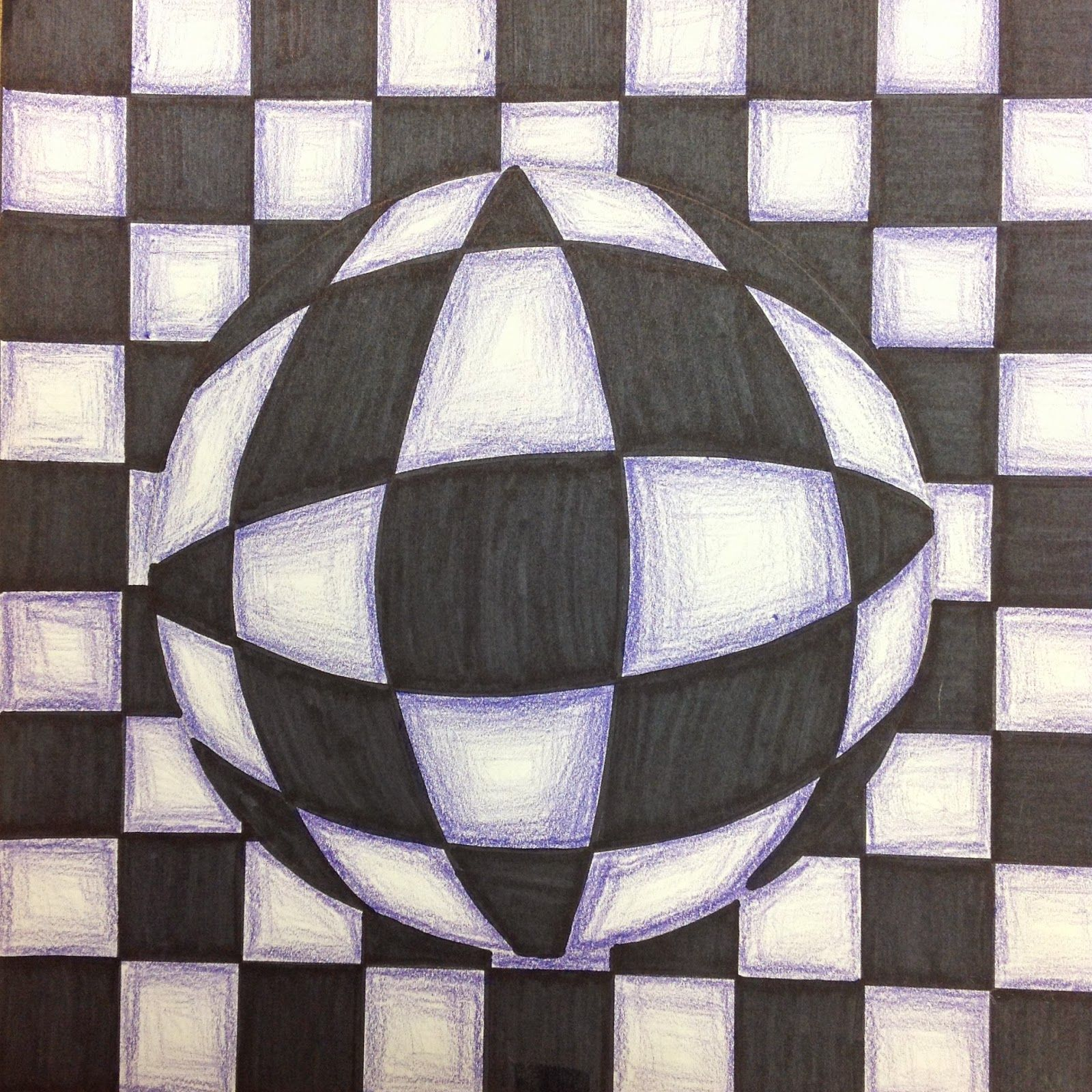 5th Grade Optical Illusion Art Drawing Lesson In