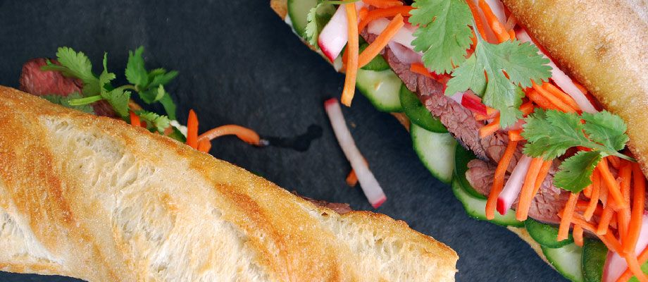 Flank Steak Banh Mi Sandwich Recipe Kikkoman recipes