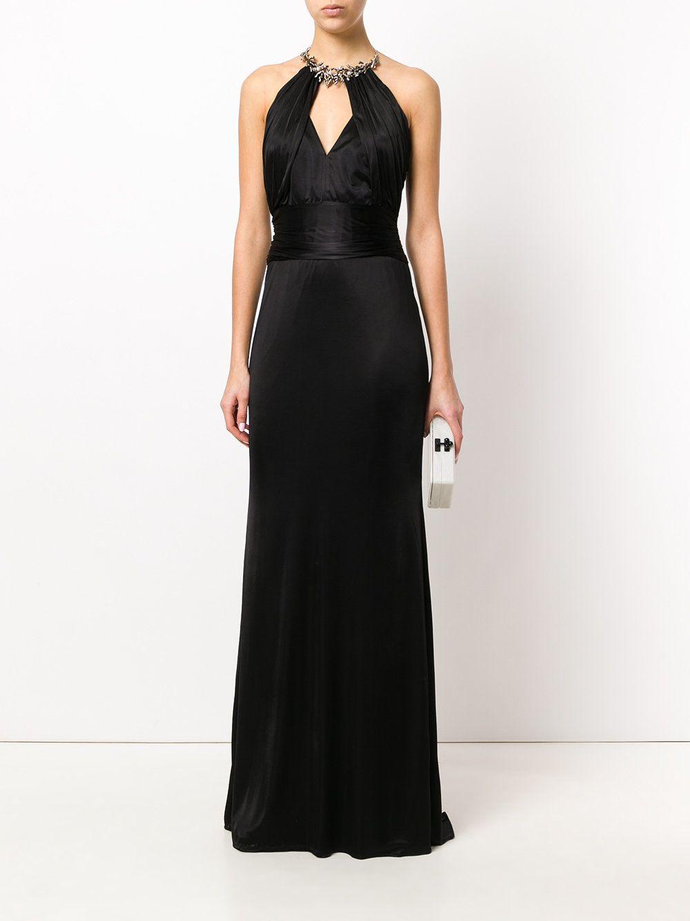 Roberto cavalli embellished collar gown dresses pinterest