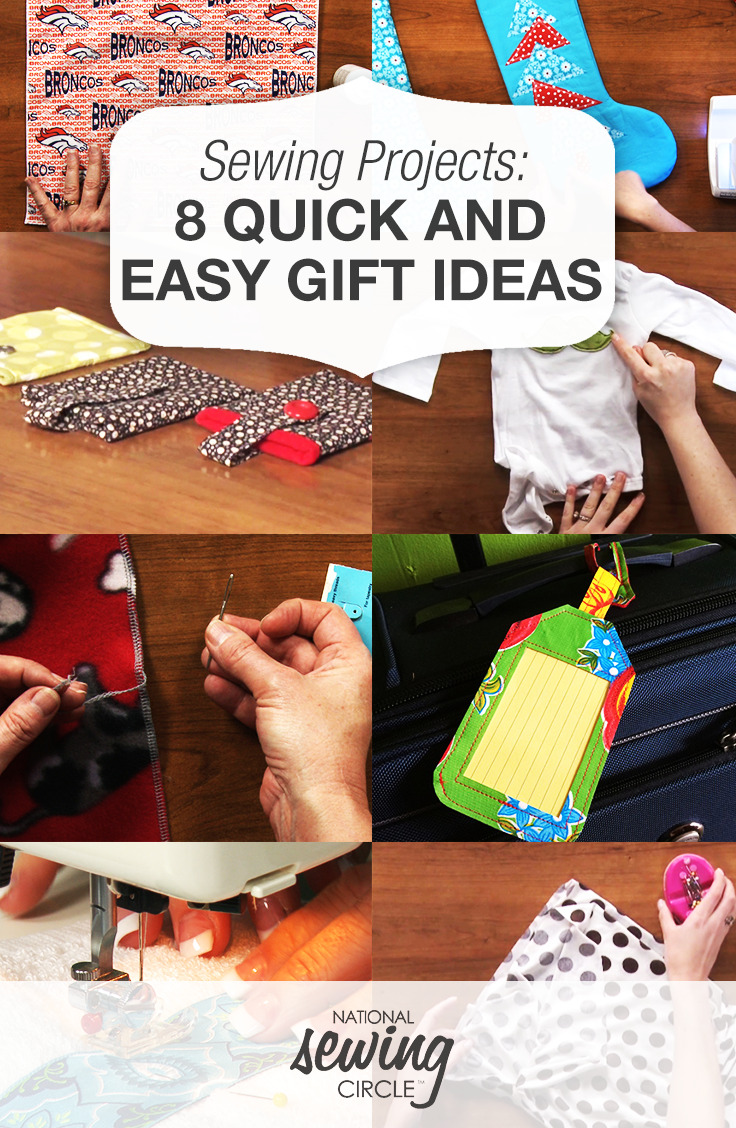 8 Holiday Gifts You Can Sew In No Time For Under 10 Beginner Sewing Projects Easy Sewing Circles Sewing Projects