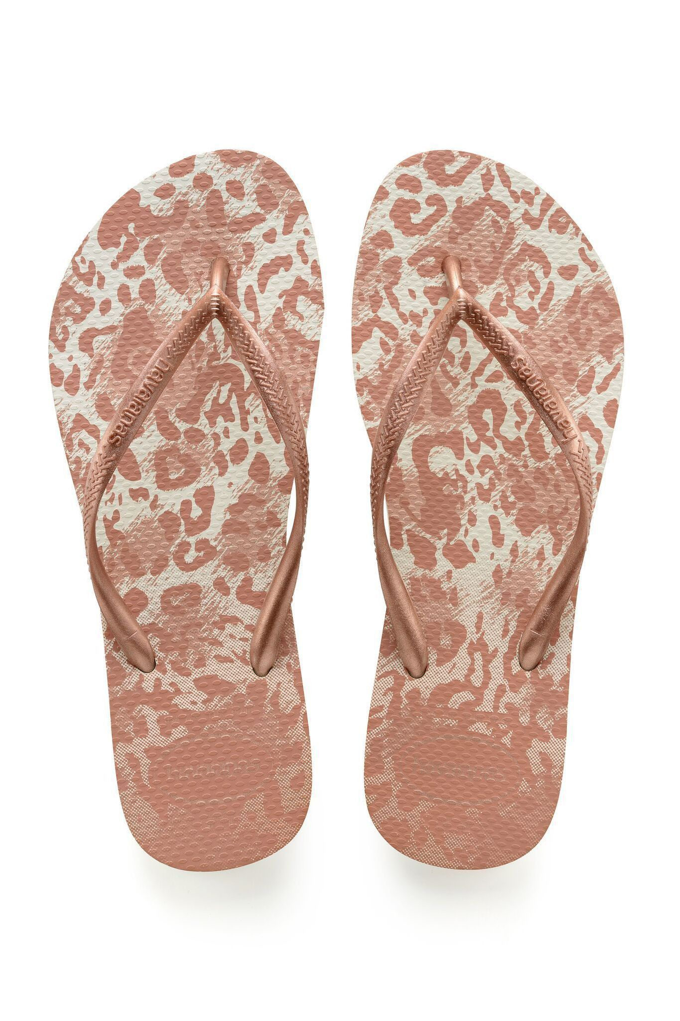 a5a1ef458754 Havaianas Slim Animals White Golden Blush Flip Flop Price From  £13.55