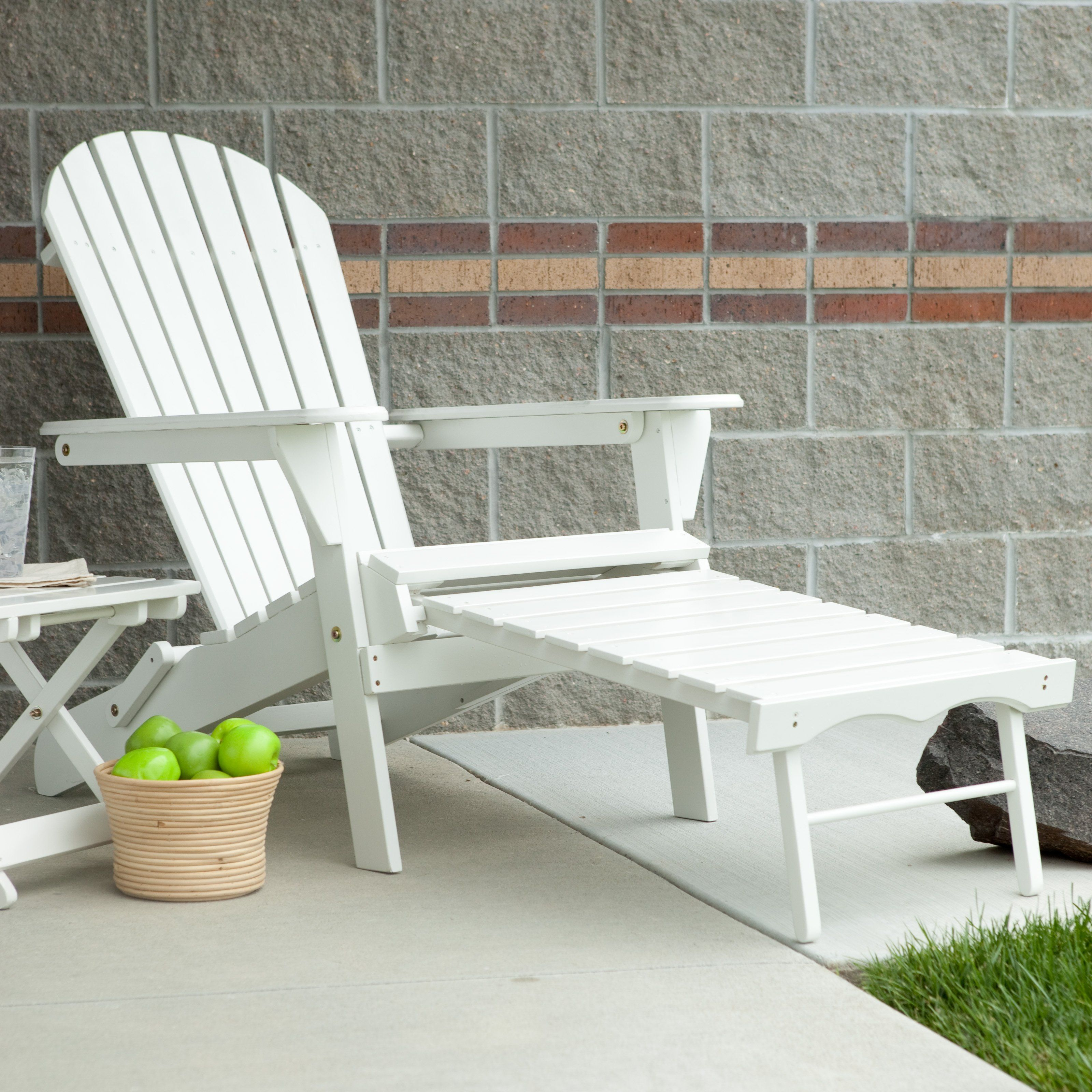 Patio Daddy O Furniture: Grand Daddy Oversized Adirondack Chair With Pull Out