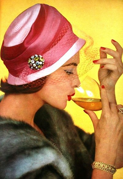 The fashionable way to drink in 1958
