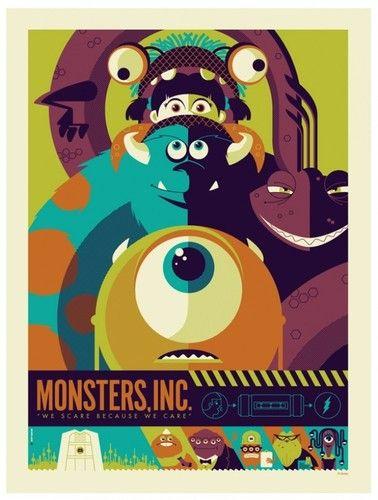 Tom Whalen Monster's Inc Variant Sideshow Poster Disney Pixar Print Mondo Mint