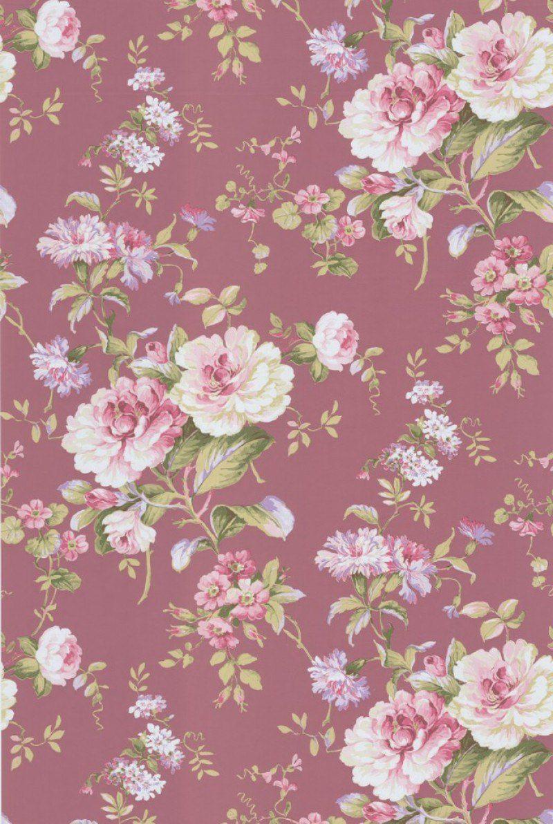 Blumen Tapeten Tapete Aroma Rose Col 10 Ft20496 1 In Den Farbmustern Rosa Grun Lila Auf Vliestapete In Der Grundton Tapeten Tapeten Shop Blumentapete