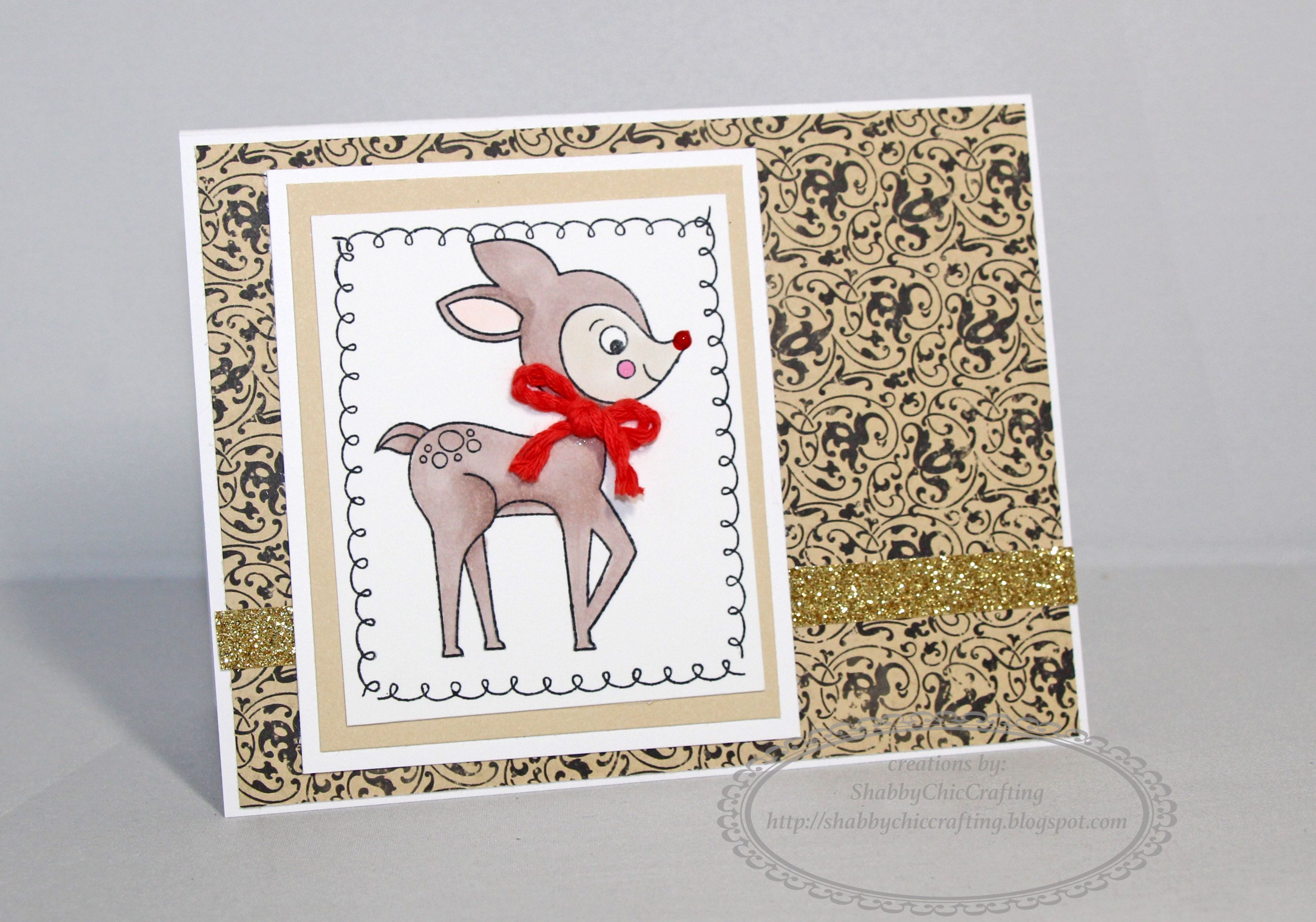 Christmas card using CTMH Yuletide Carol #ctmh #christmascard #closetomyheart #miracleofchristmas
