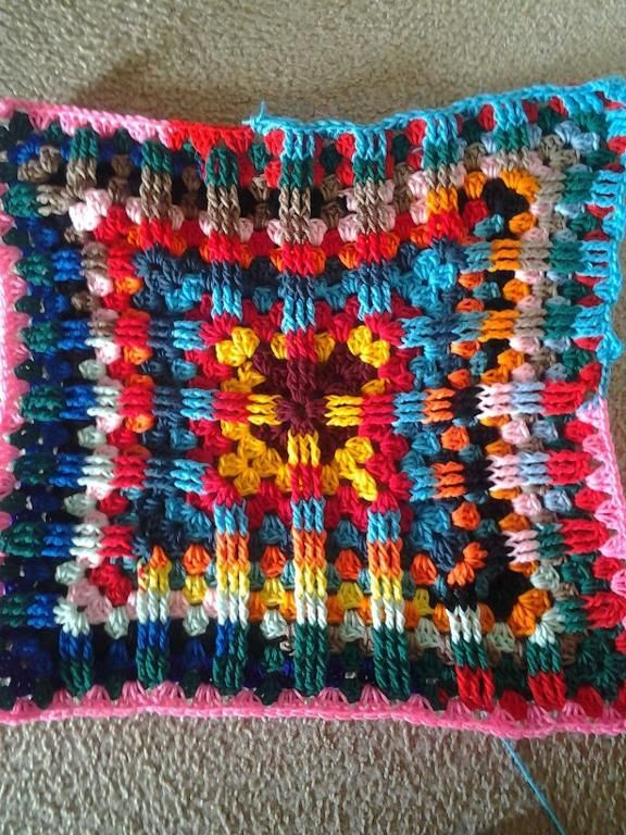 Textured Granny Square Afghan Pattern