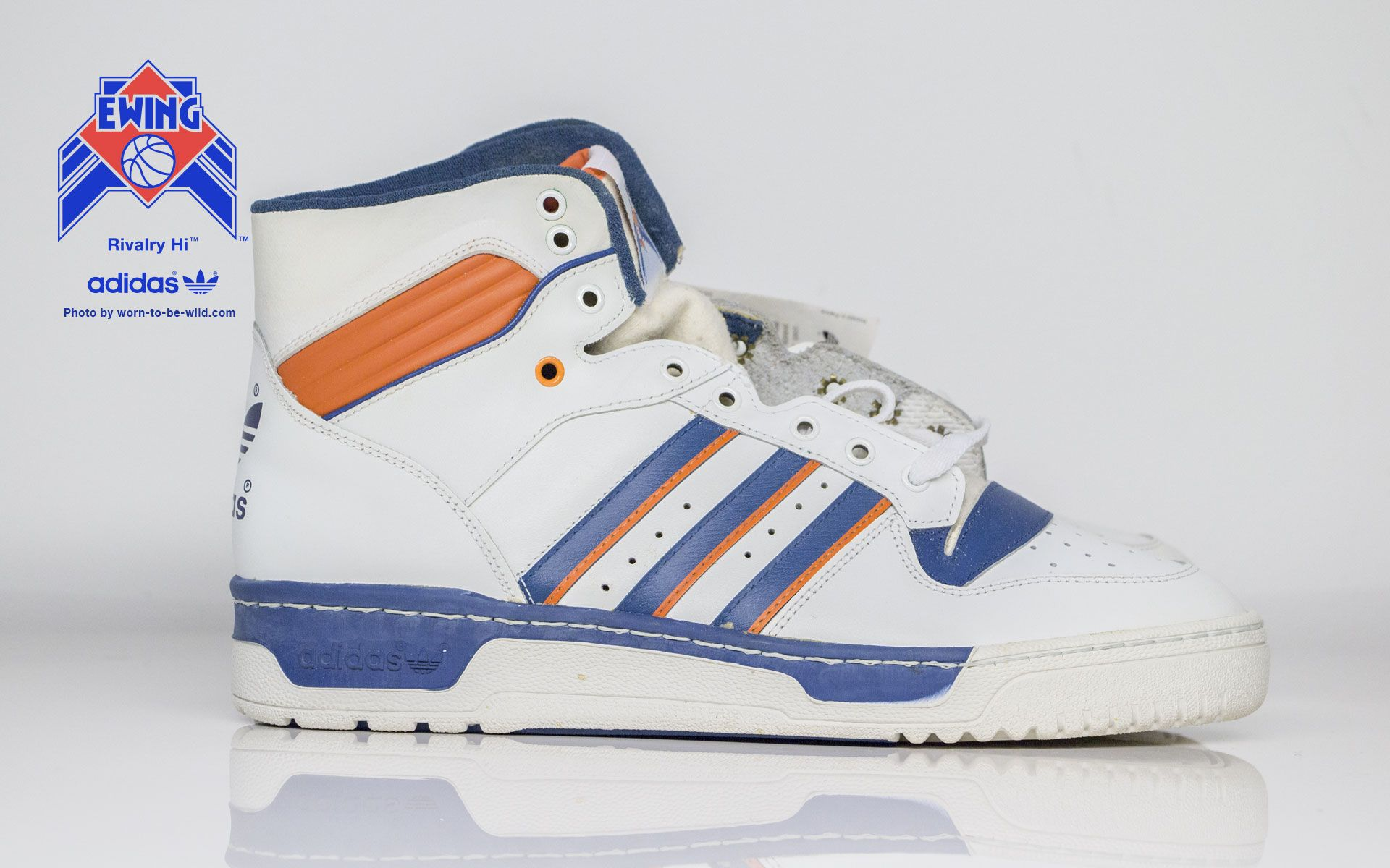 sports shoes be25a 54dc4 WORN TO BE WILD » Adidas Rivalry Hi Ewing New York Knicks