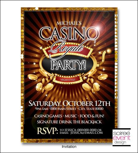 "casino royale"" casino party invitation 