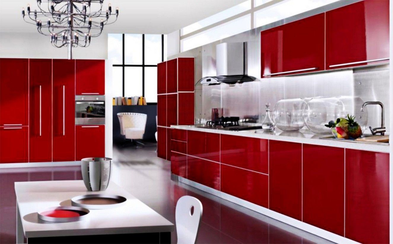 beautiful red kitchen cabinets ideas  red kitchen