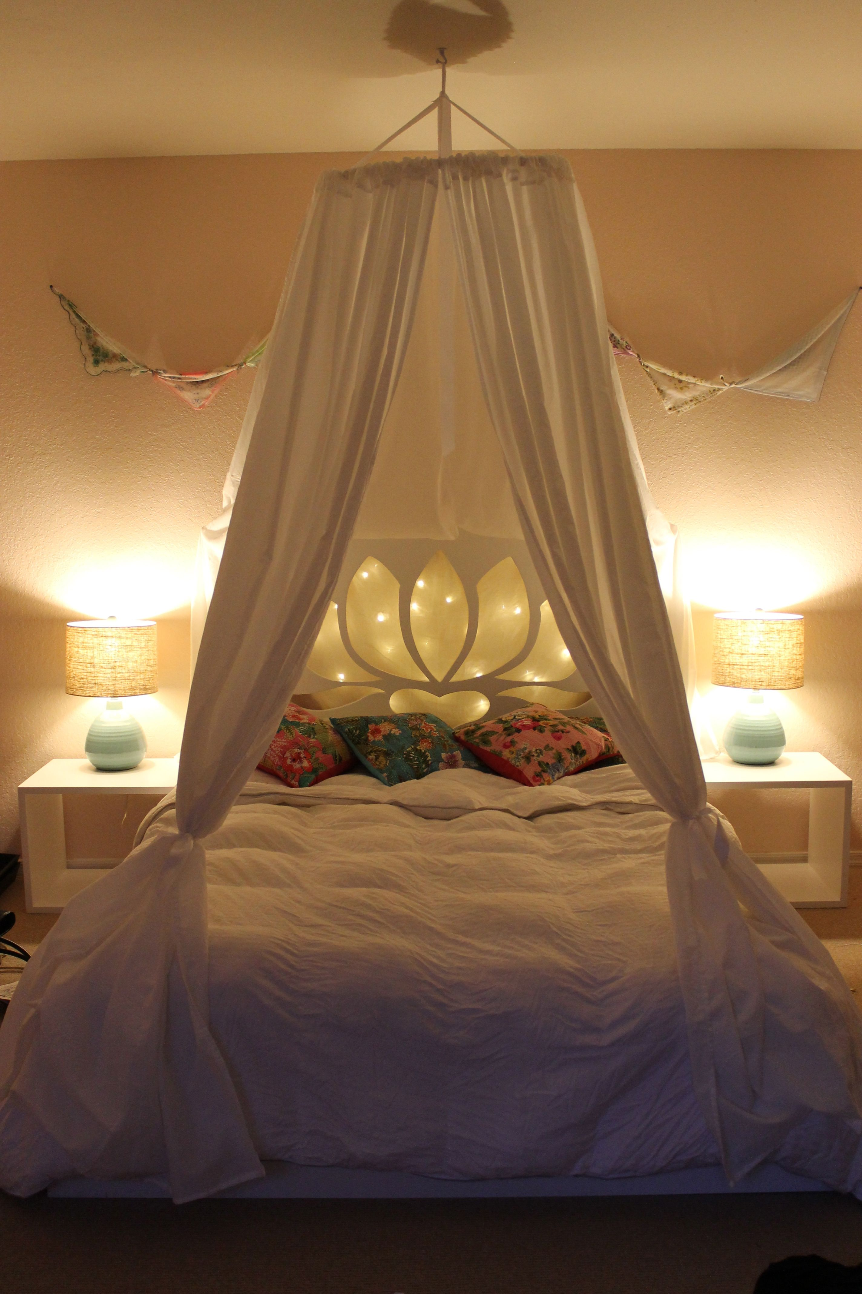 Fairy Lights Kids Room New Girly Bed Done Canopy Fairy Lights Kantha Indian