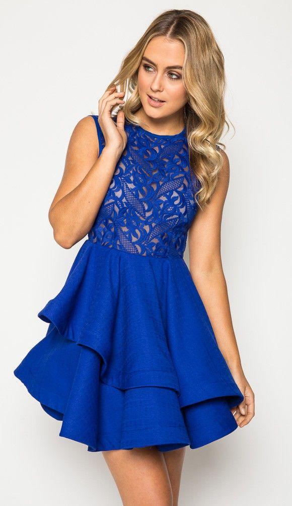 Belief Lace Skater Dress in Royal Blue | Dresses | Pinterest ...