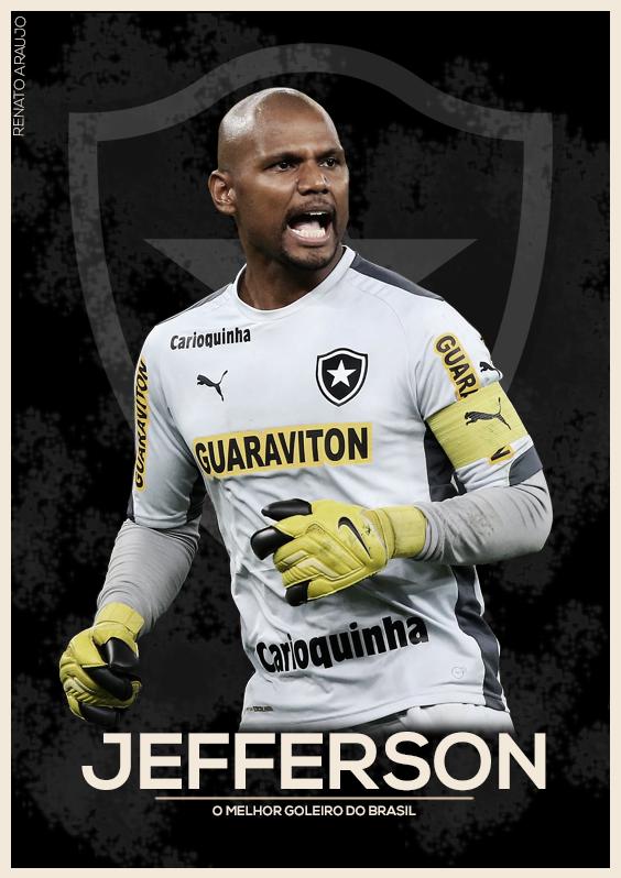 55e9e927a6 Pôster do goleiro Jefferson do Botafogo
