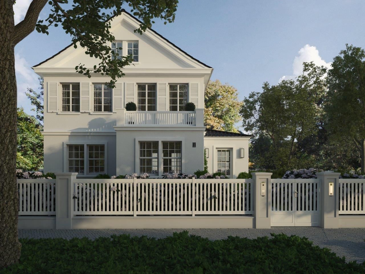 villa amalia frontalansicht von der stra e aus ein wundersch nes schlichtes einfamilienhaus. Black Bedroom Furniture Sets. Home Design Ideas